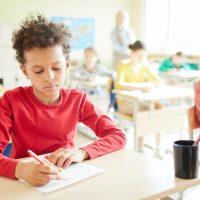 Passing exam in elementary school